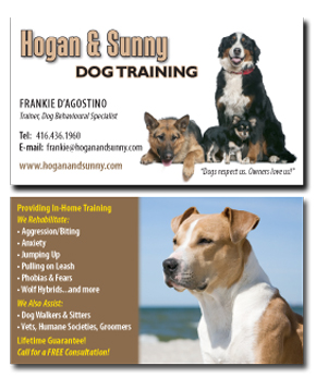 Dog training business card visual eyes art design for Dog trainer business card